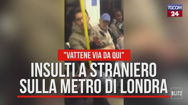 Insulti razzisti a un italiano in metro a Londra. (Video)